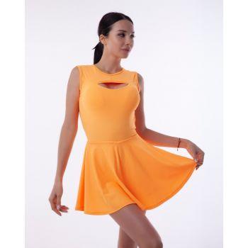 Фитнес платье с открытой спинкой без рукав