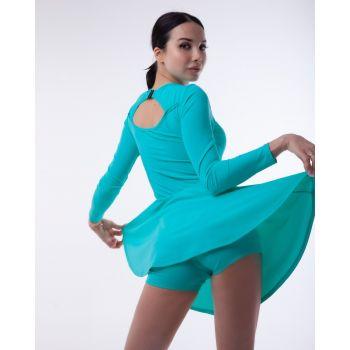 Спортивное платье с закрытой спинкой с рукавами