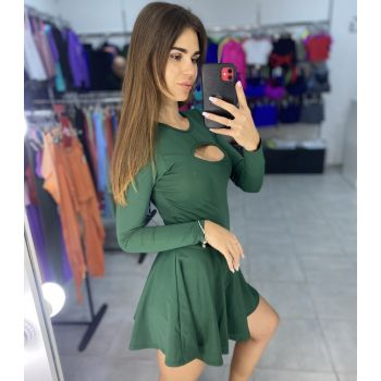 Фитнес платье с открытой спинкой с рукавами