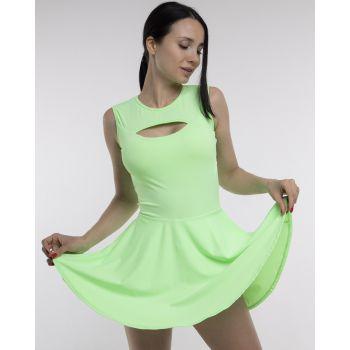 Спортивное платье с закрытой спинкой без рукав